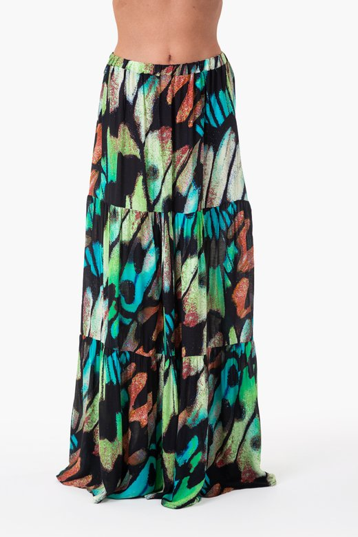 VISCOSE PRINTED LONG SKIRT