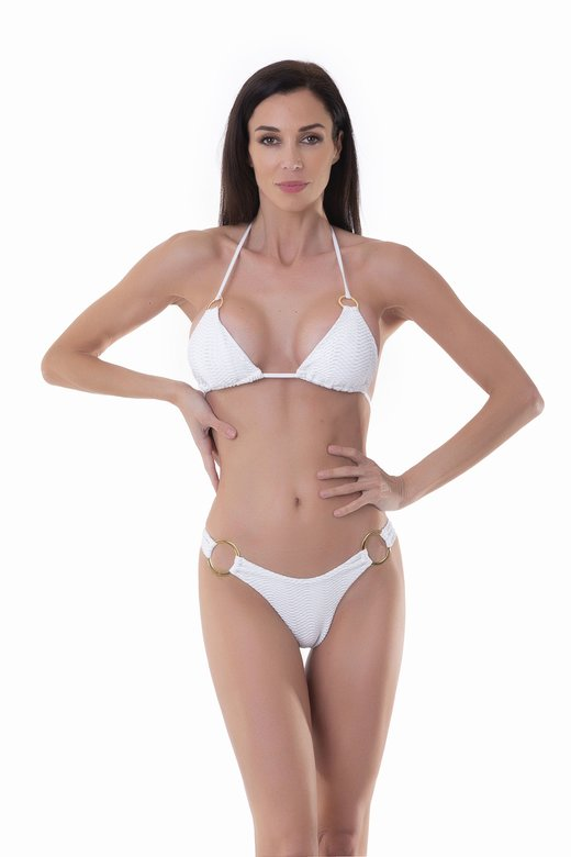 TRIANGLE BIKINI WITH OPERATED MICROFIBER AND SLIP SLIP
