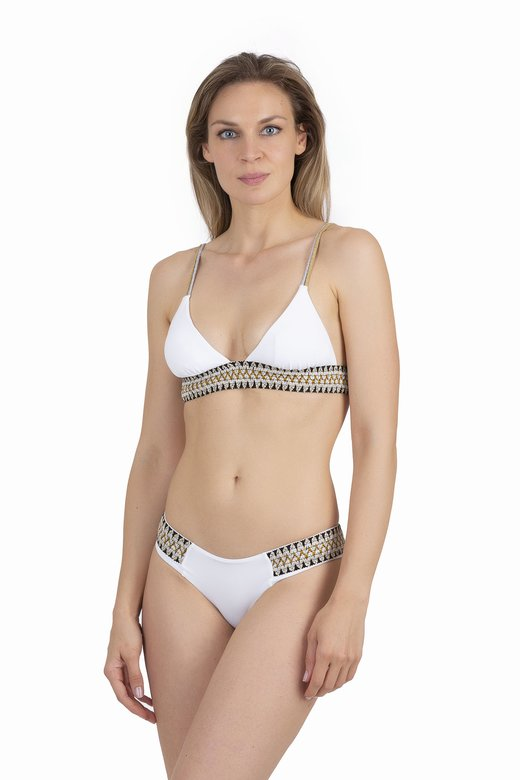 TRIANGLE  BIKINI WITH LUREX ELASTICS