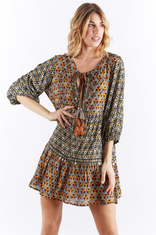 TRIBAL PRINTED CAFTAN