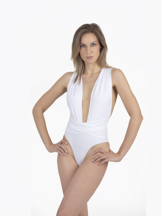 ONE-PIECE SWIMSUIT WITH SLEEVE - Bianco White 001