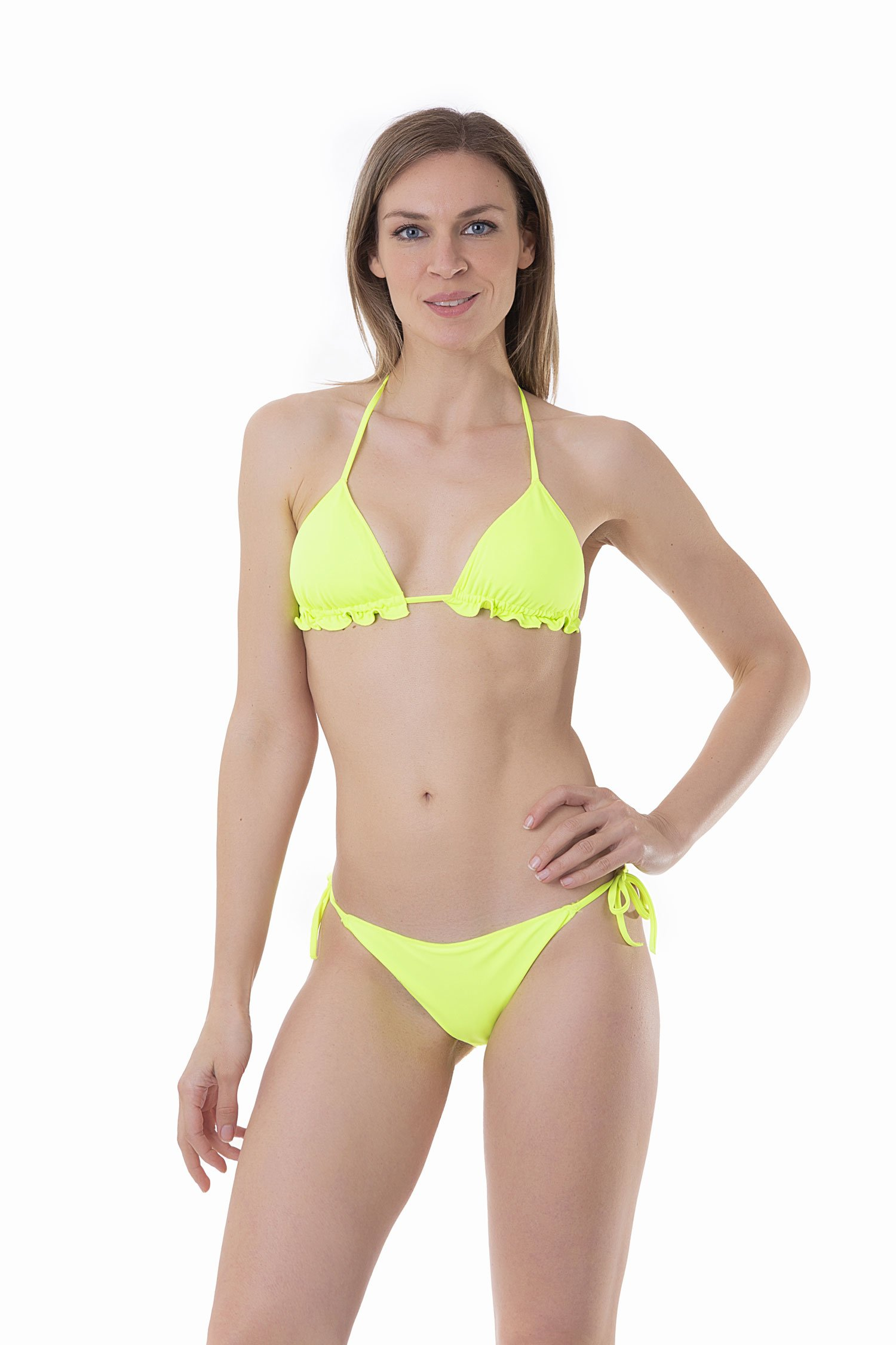 SOLID COLOUR BASIC TRIANGLE TOP - Radiance Giallo Fluo