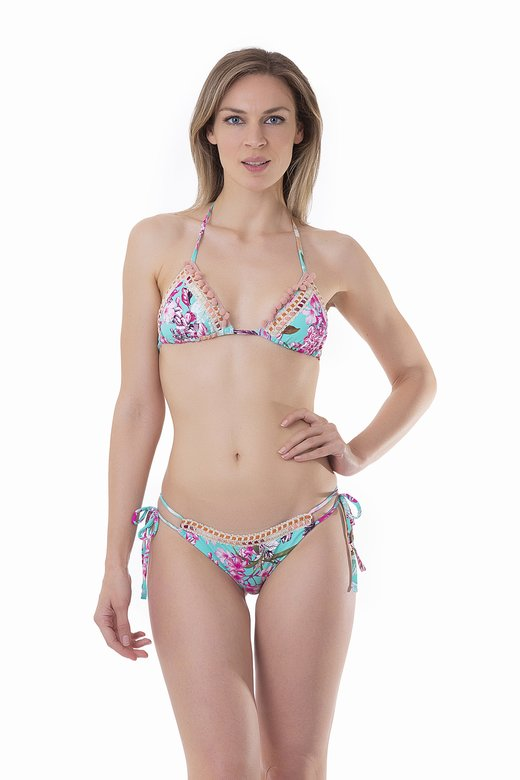FLOWER PRINT TRIANGLE BIKINI