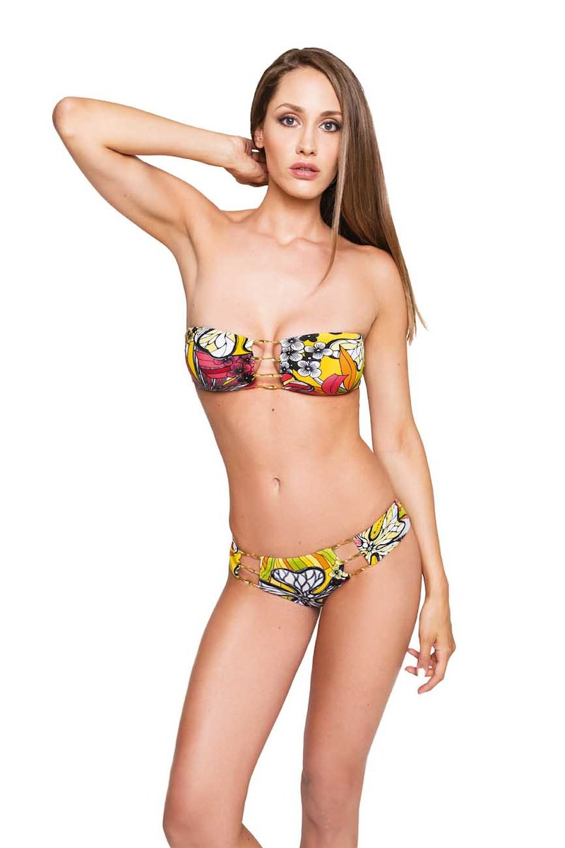 BIKINI WITH METAL APPLICATIONS - Fiori Giallo
