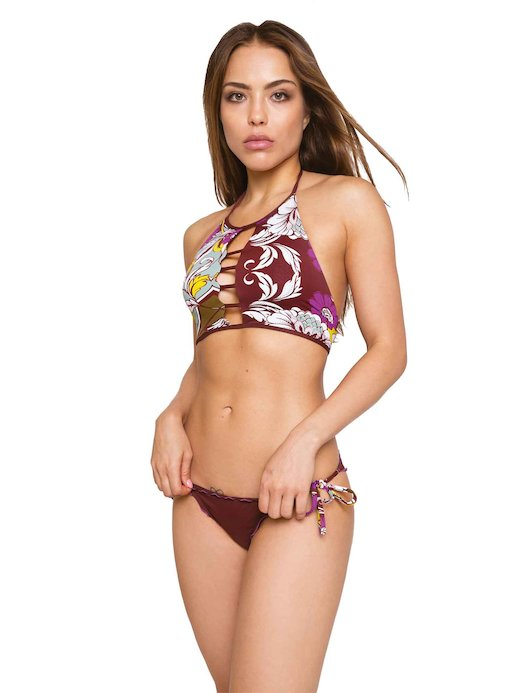 BIKINI TOP HANDKERCHES PRINTED AND PLAIN