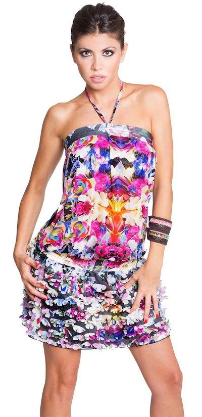 mini dress skirt florets