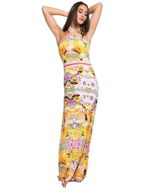 ZANZIBAR DRESS LONG DRESS RHINESTONES 3705