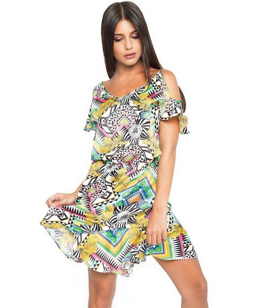SCUDI FRILL DRESS 3714