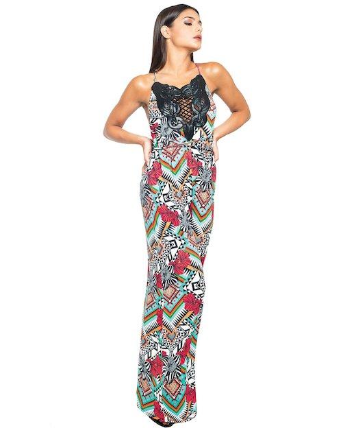 SCUDI LONG DRESS 3715
