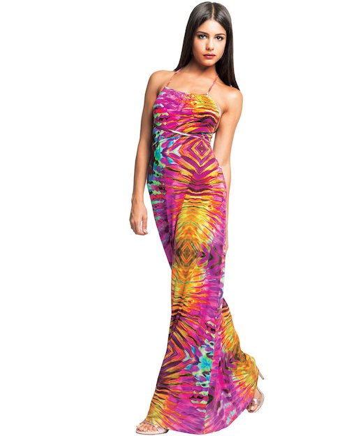 AMERICAN LONG DRESS JERSEY 3744 - Riflessi Rosa