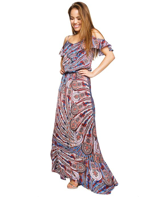 TOP LONG DRESS WITH FRILLS