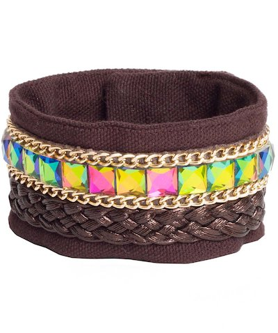 Iridescent stone bracelet