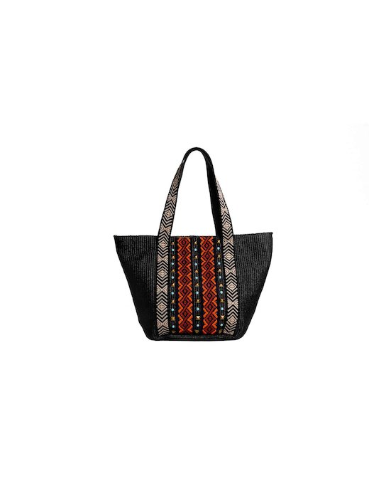 RAFIA BAG WITH APPLICATIONS