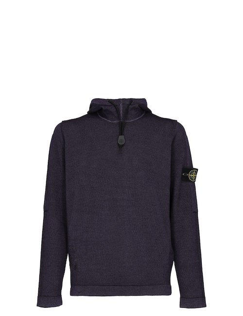 Hooded wool Sweatshirt