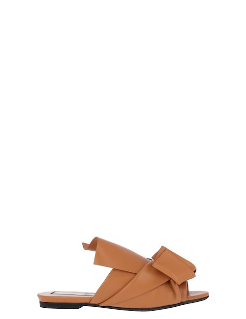 Bow Leather Mules