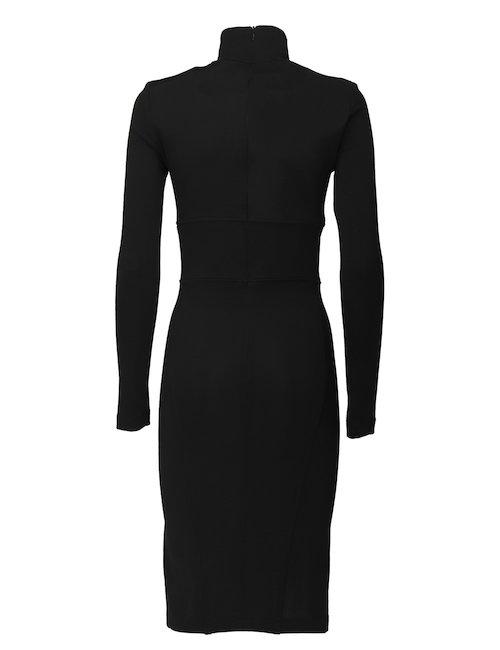 Turtleneck Dress With V Neck