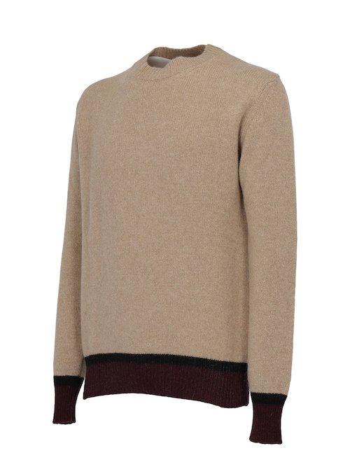 Crew-Neck Beige Sweater