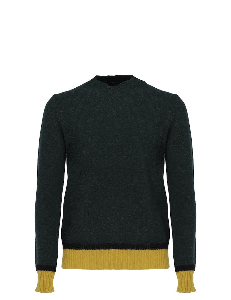 Green Crew-Neck Sweater