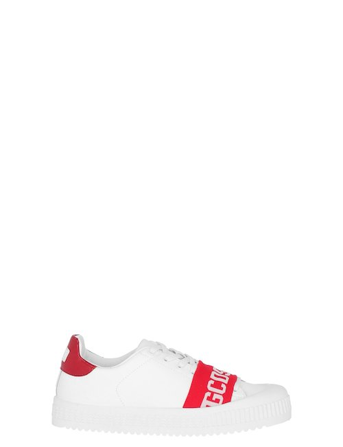 Logo Sneakers In Pelle