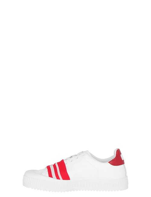 Logo Sneakers In Pelle