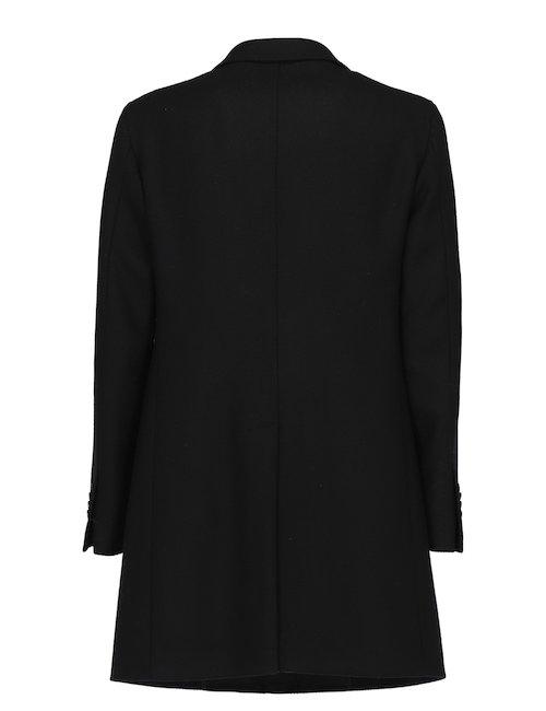Single-Breasted Black Coat