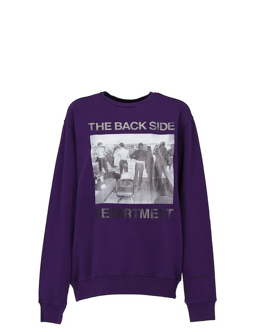 Purple Cotton Sweatshirt With Print