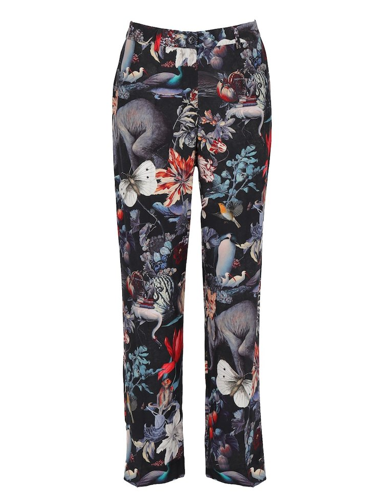 Silk Printed Trousers