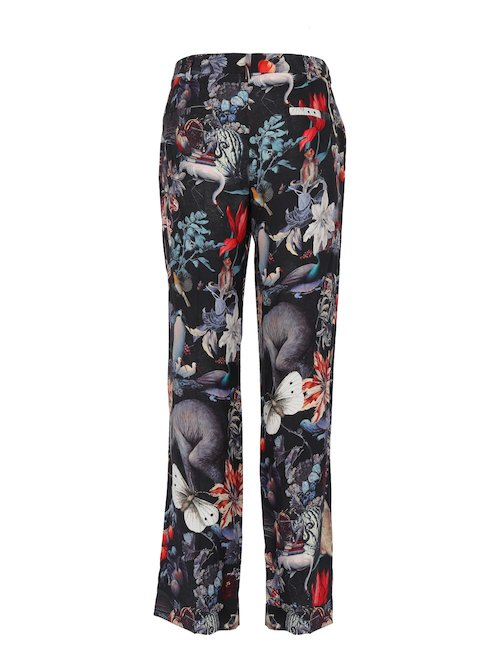 Pantalone In Seta Con Stampa