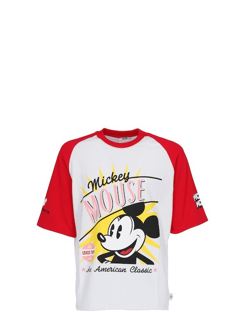 T-Shirt Oversize Con Stampa Mickey