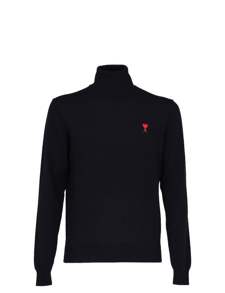 Wool Ami de Coeur Turtleneck Sweater