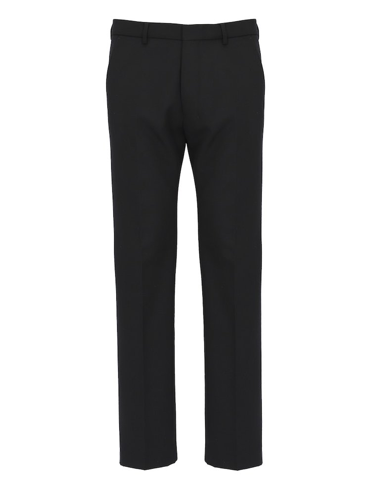 Pantaloni Straight In Misto Lana