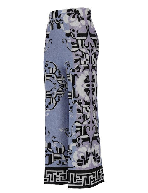 Jacquard Wide Leg Pants