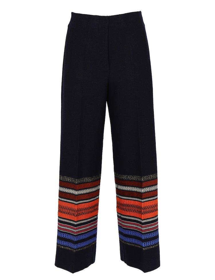 Wide Leg Peruvian Print Pants