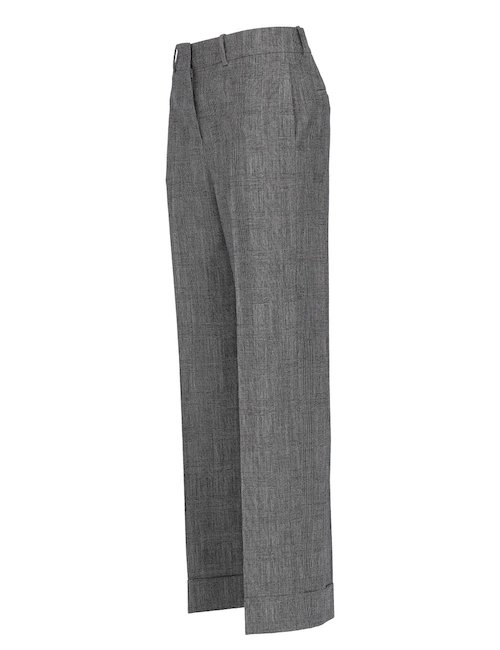 Prince of Wales Wide Leg Pants