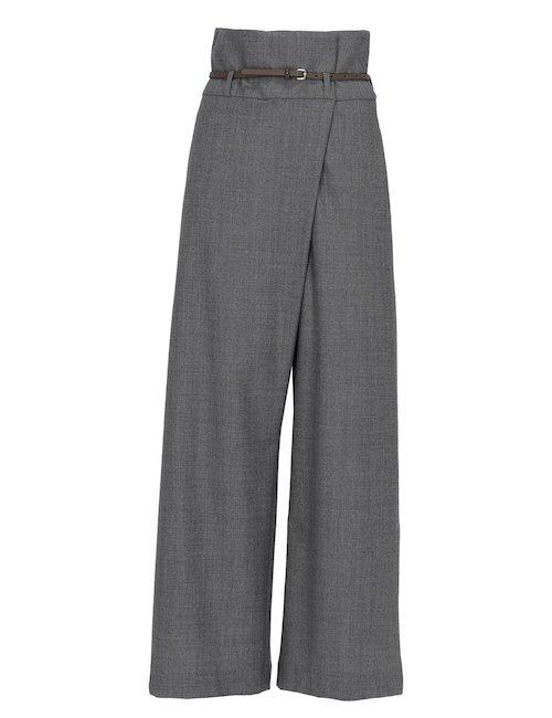 Pantaloni In Lana Con Cerniera