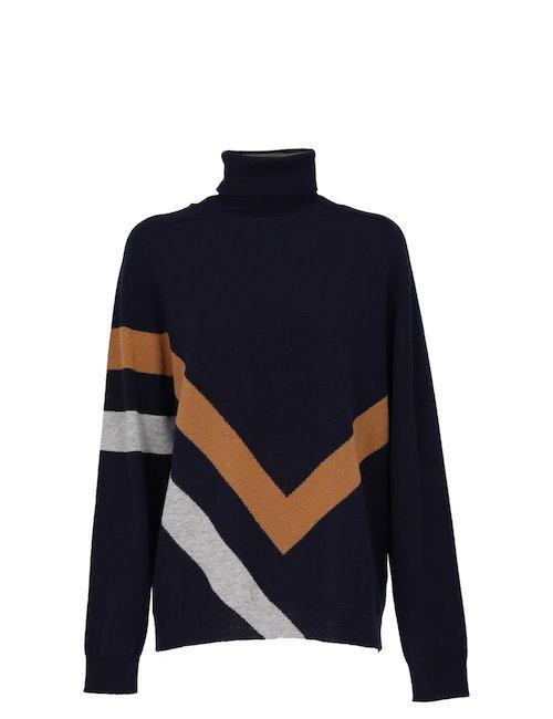 Striped Wool Blend Sweater