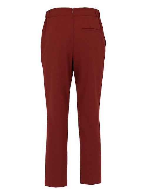 Wool Blend Pleated Pants