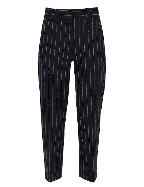 Pantaloni In Lana Vergine Gessati