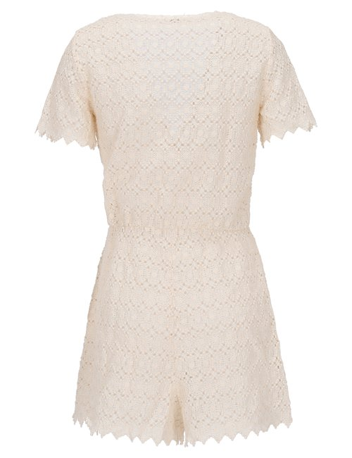 Short Cotton Jumpsuit