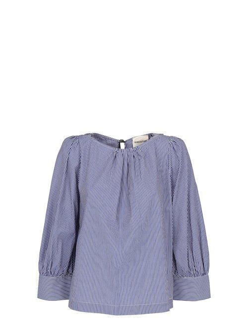 Boat Neck Cotton Shirt