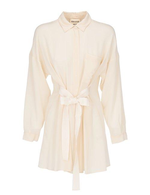 Silk Belted Shirt