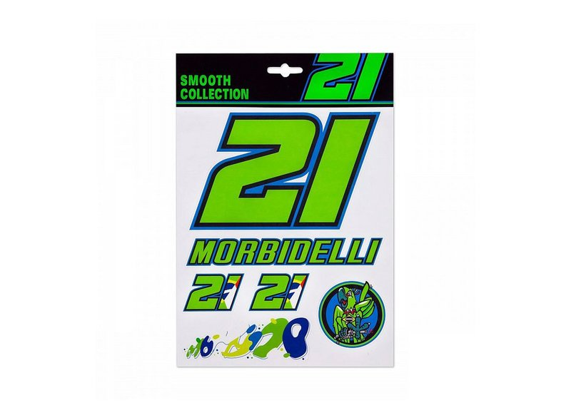 Franco Morbidelli 21 Stickers Set - Black