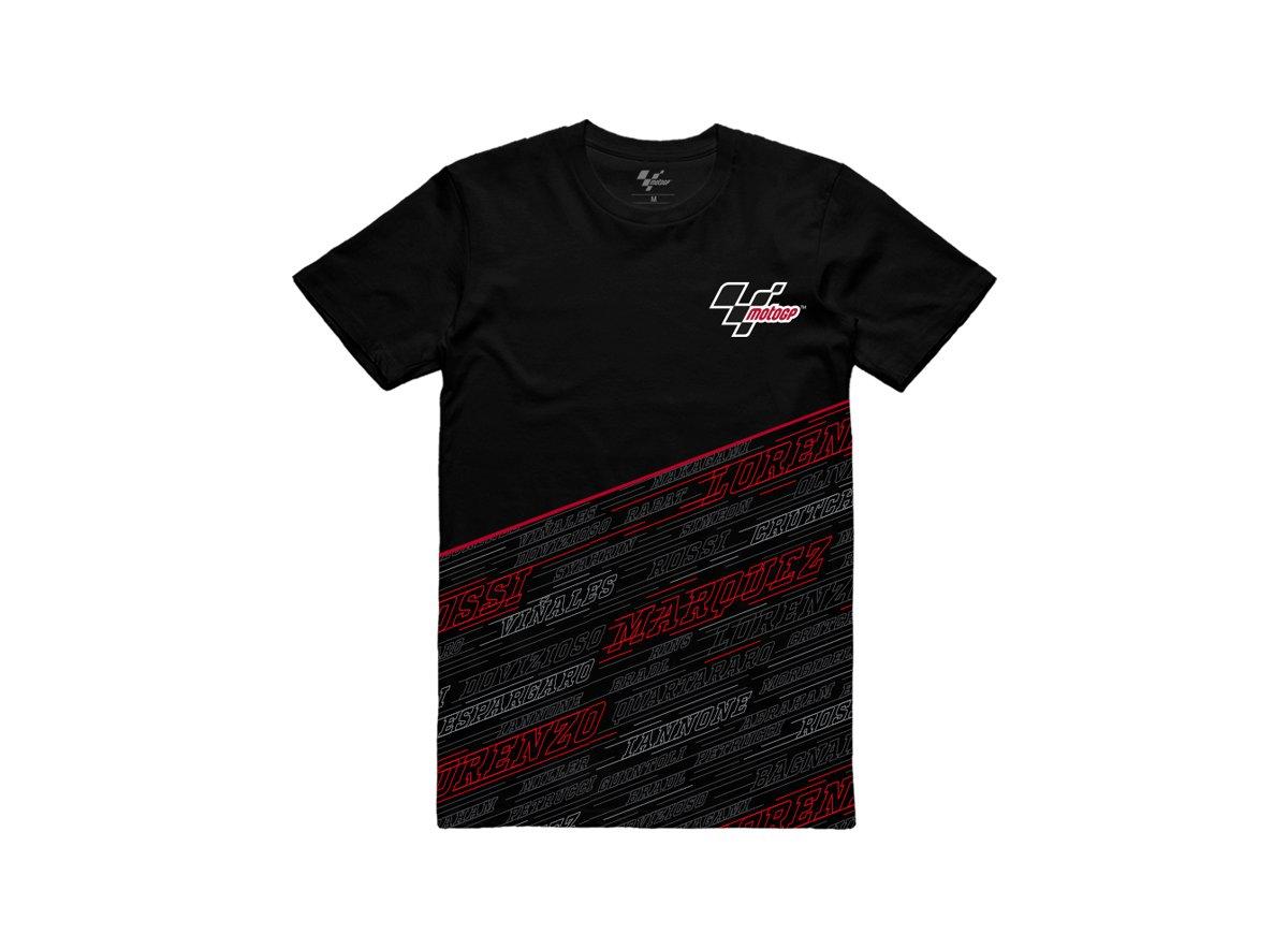 Jorge Lorenzo 99 MotoGP Rider Red Black Logo black t shirt