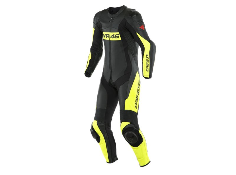 Dainese Suit VR46 Tavullia Black/Fluo-Yellow