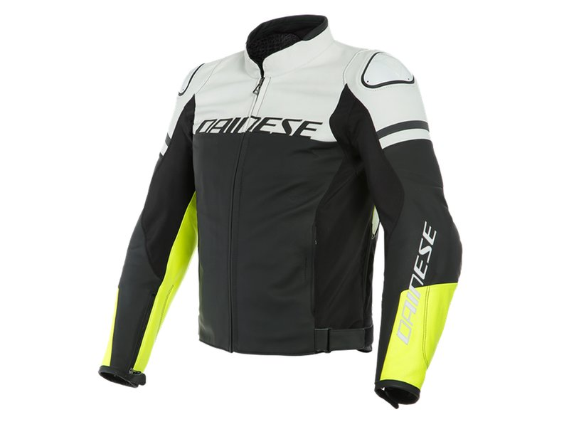 Dainese Agile Leather Jacket White
