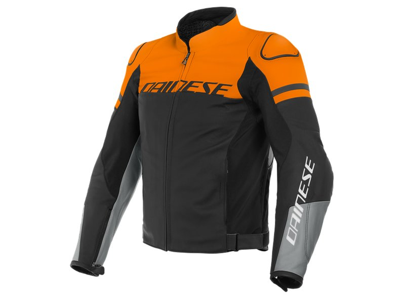 Dainese Agile Leather Jacket Orange