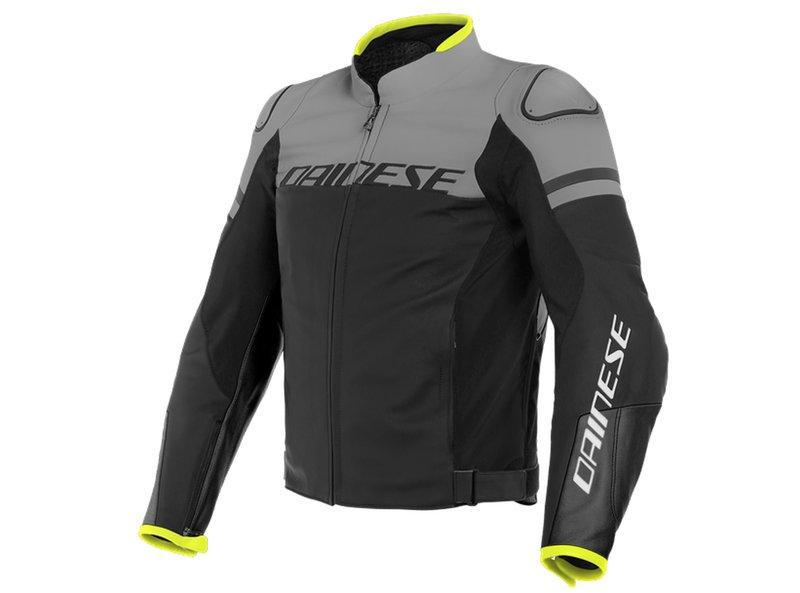 Dainese Agile Leather Jacket Charcoal Grey - Grey