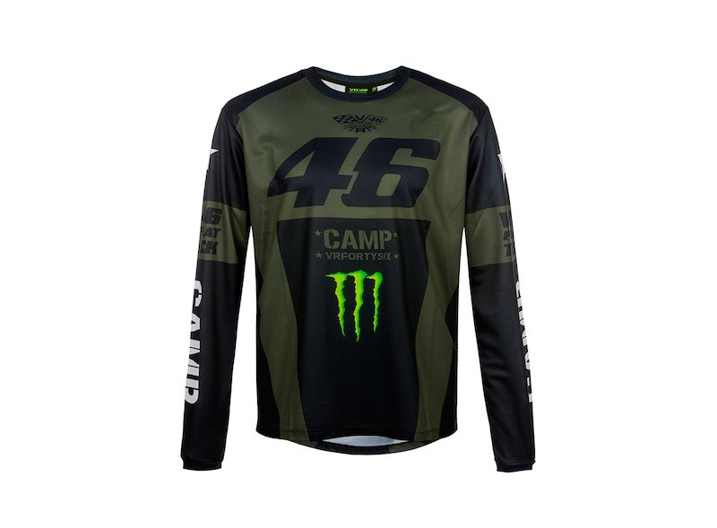 Camiseta Rossi Monster Camp larga - White