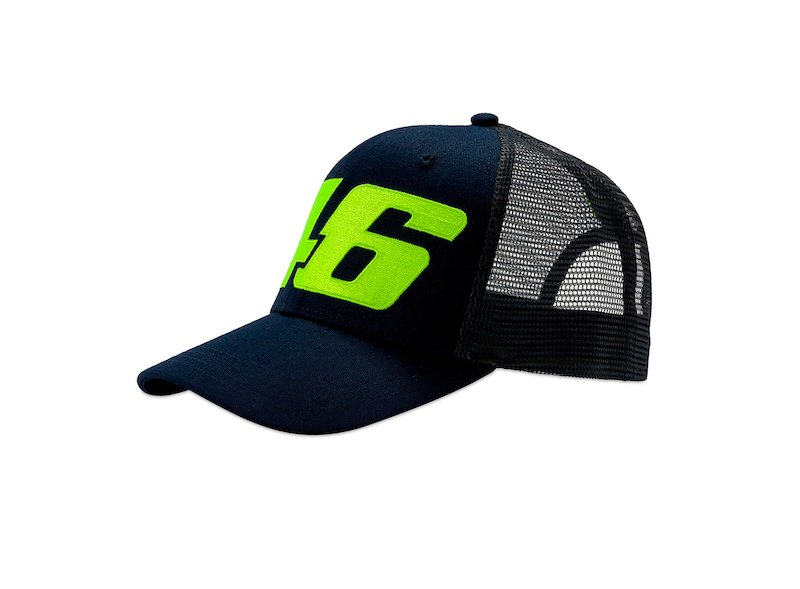 Gorra Core VR46 trucker azul - White