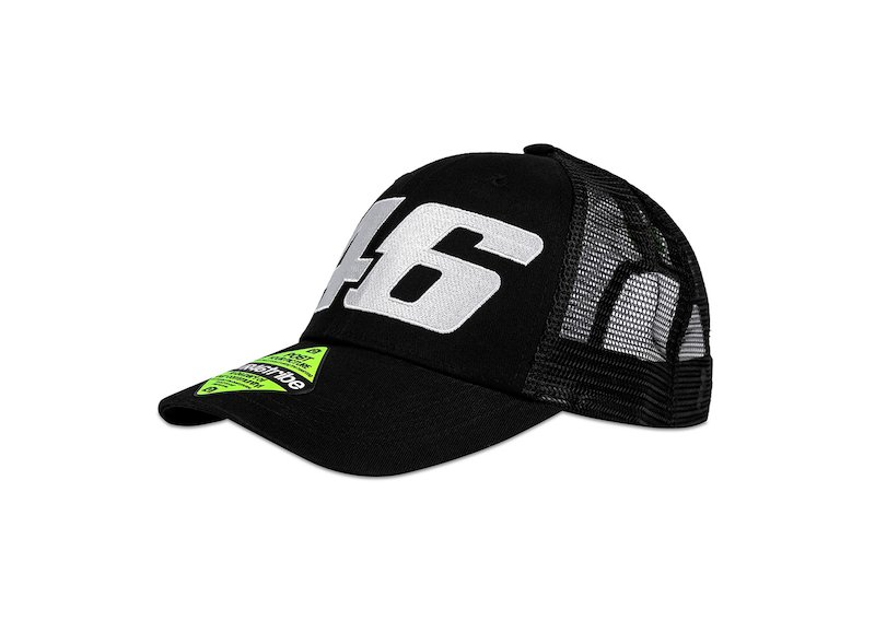 Core VR46 black trucker cap - White
